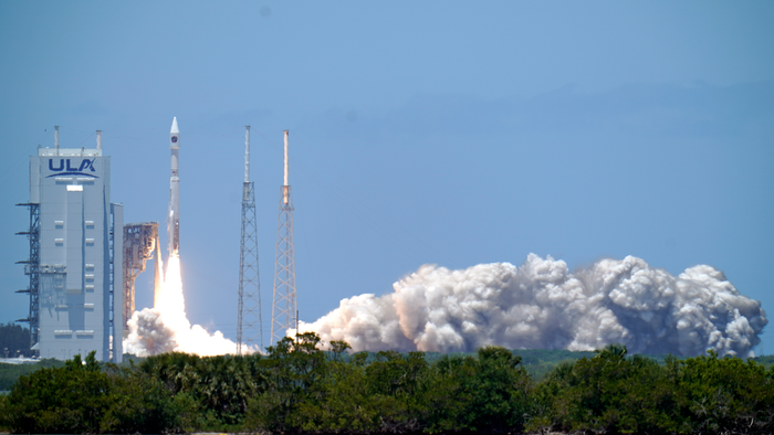 A United Launch Alliance Atlas V rocket lifts off at Cape Canaveral Space Force Station, Fla., May 18, 2021.  - AP21138641773783 - US Space Force missile-warning satellite rockets into orbit
